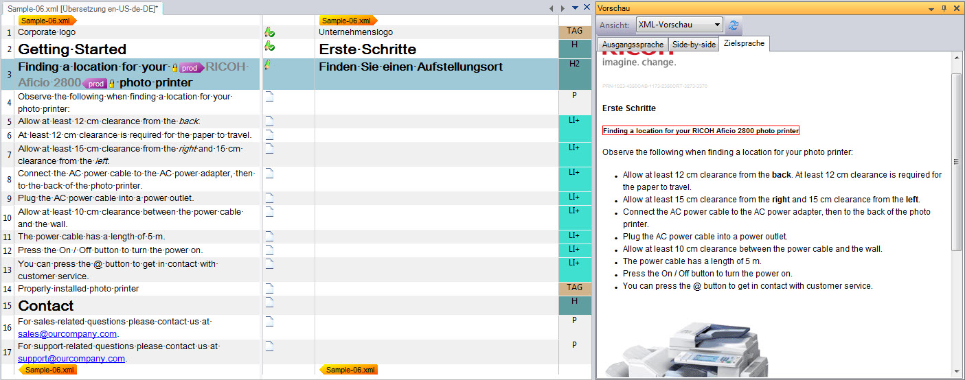 XML in SDL Trados Studio mit Dateityp